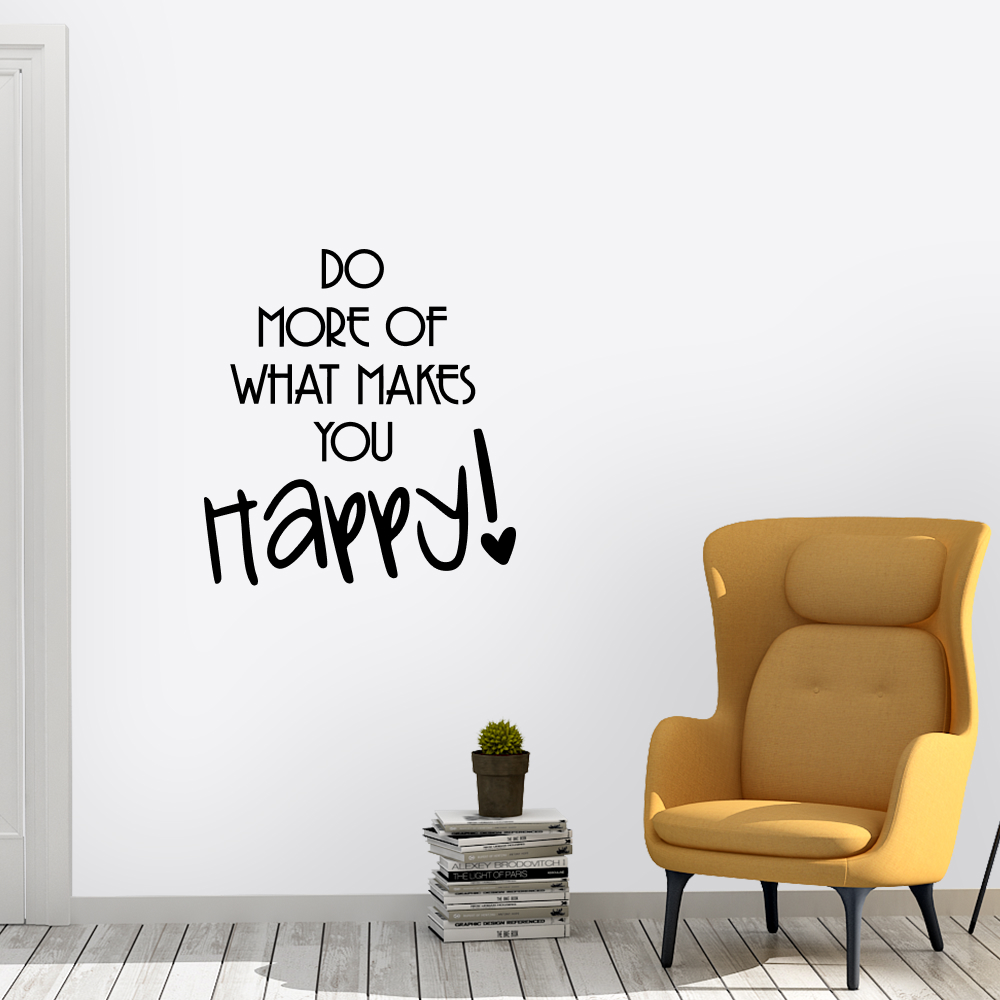 Muursticker – Do more what makes you happy