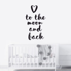 Muursticker - To the moon and back