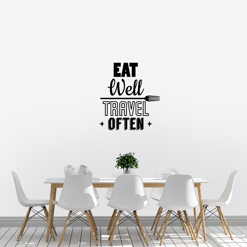 Muursticker – Eat well travel often