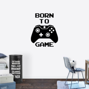 Muursticker - Born to game