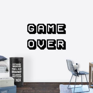 Muursticker - Game over 8-bit